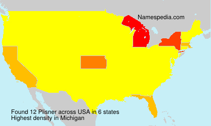 Surname Plisner in USA