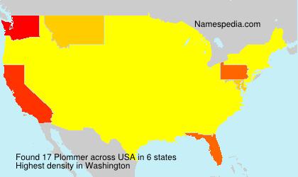 Familiennamen Plommer - USA
