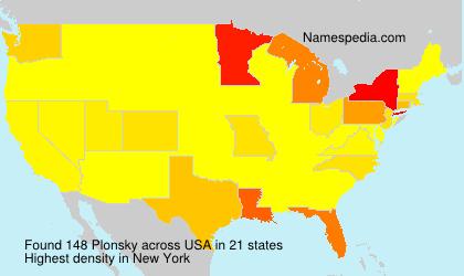 Surname Plonsky in USA