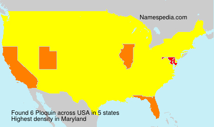 Surname Ploquin in USA