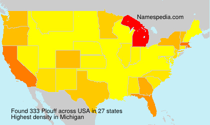 Surname Plouff in USA