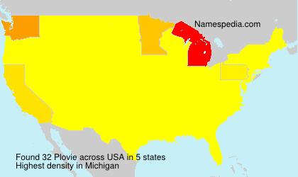 Surname Plovie in USA