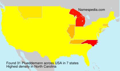 Surname Plueddemann in USA