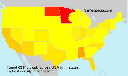 Surname Plutowski in USA