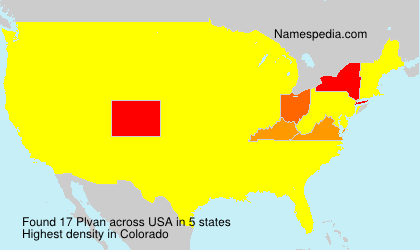 Surname Plvan in USA