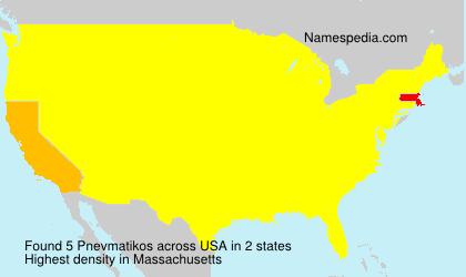 Familiennamen Pnevmatikos - USA
