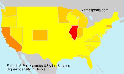 Familiennamen Pniak - USA