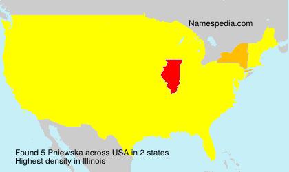 Familiennamen Pniewska - USA