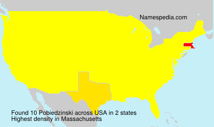 Surname Pobiedzinski in USA