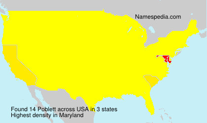 Surname Poblett in USA
