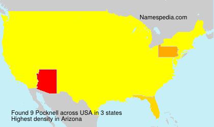 Surname Pocknell in USA