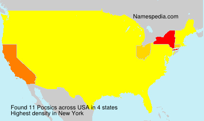Surname Pocsics in USA