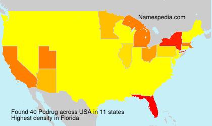 Familiennamen Podrug - USA