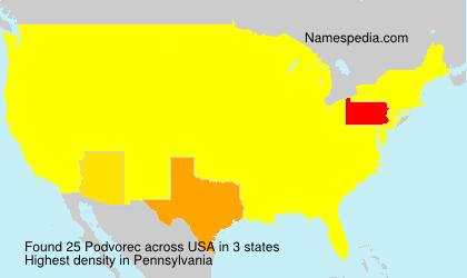 Surname Podvorec in USA