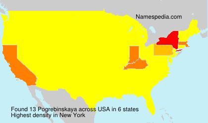 Surname Pogrebinskaya in USA