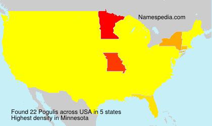 Familiennamen Pogulis - USA