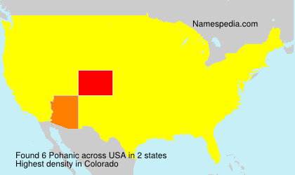 Surname Pohanic in USA