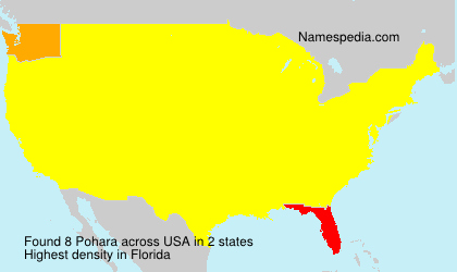 Surname Pohara in USA