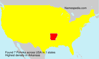 Surname Pohnka in USA