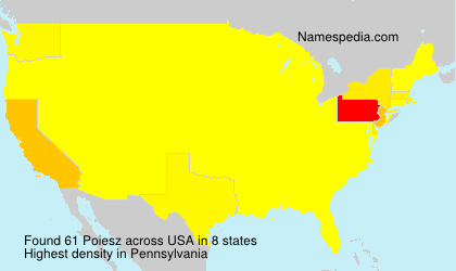 Surname Poiesz in USA
