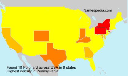 Familiennamen Poignard - USA