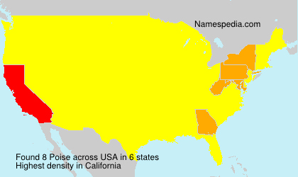 Surname Poise in USA