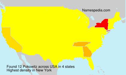 Familiennamen Pokowitz - USA