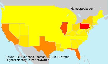 Surname Polacheck in USA