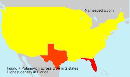 Familiennamen Polanovich - USA
