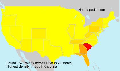 Familiennamen Polatty - USA