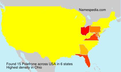 Familiennamen Polefrone - USA