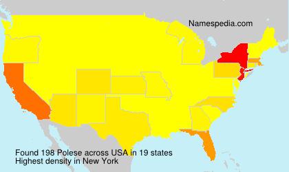 Familiennamen Polese - USA