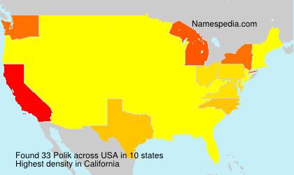 Familiennamen Polik - USA