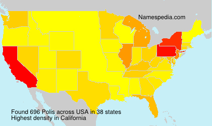 Surname Polis in USA