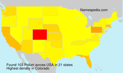 Surname Pollart in USA