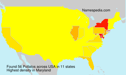 Surname Pollatos in USA