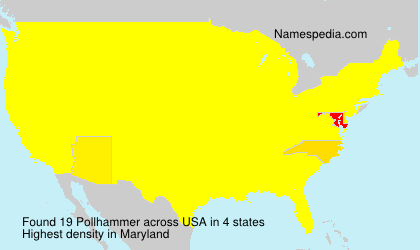 Surname Pollhammer in USA