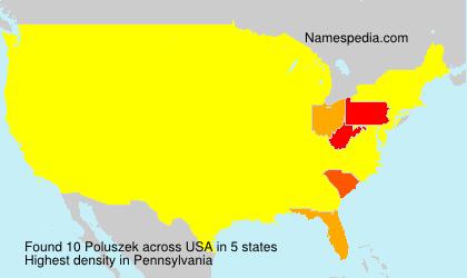Surname Poluszek in USA