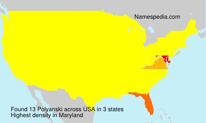 Surname Polyanski in USA