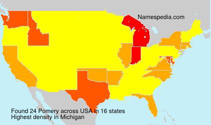 Surname Pomery in USA