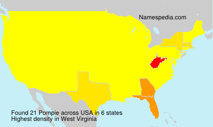 Surname Pompie in USA