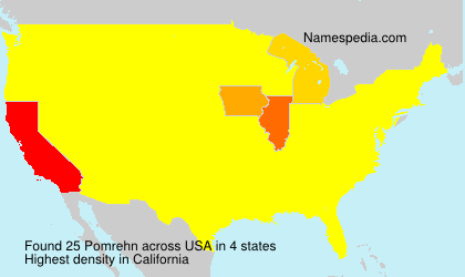 Surname Pomrehn in USA