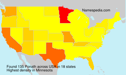 Surname Ponath in USA
