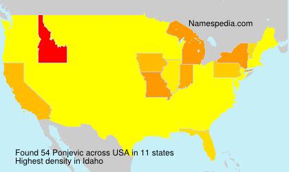 Familiennamen Ponjevic - USA
