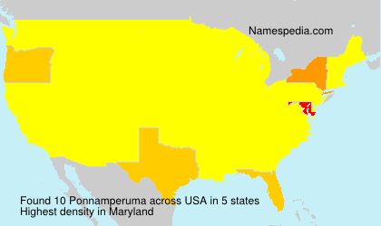 Surname Ponnamperuma in USA