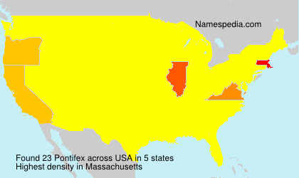 Surname Pontifex in USA