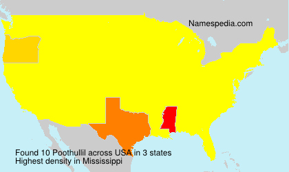 Surname Poothullil in USA