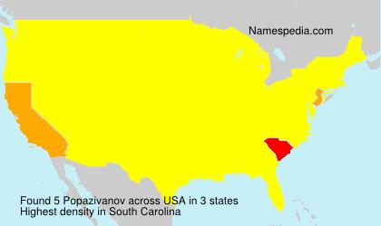 Surname Popazivanov in USA