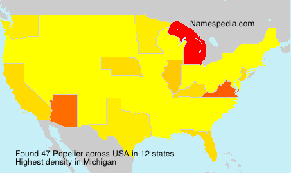 Surname Popelier in USA