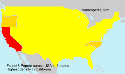 Surname Popete in USA